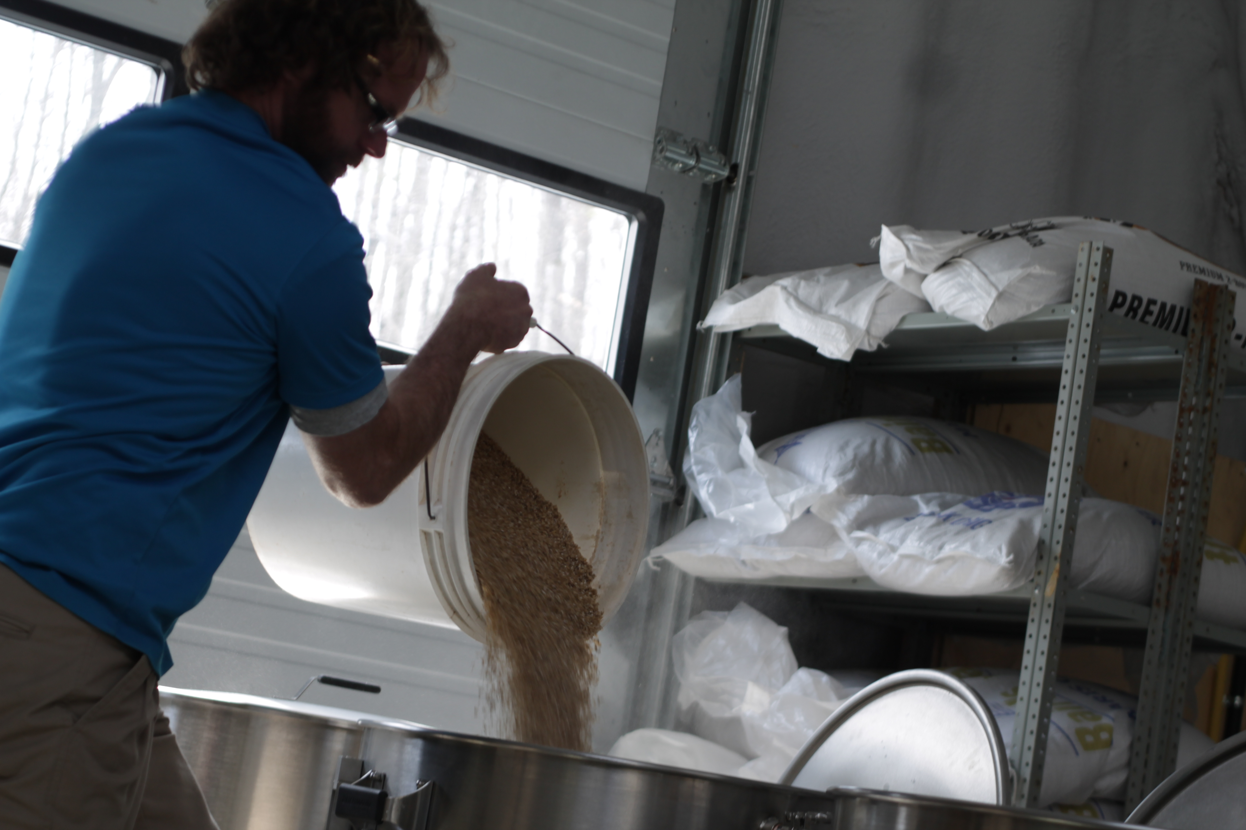 Andre adding to the mash