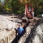 Trenching under the driveway
