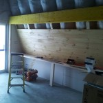 Taproom display area